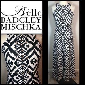 Badgley Mischka Scuba Maxi Dress